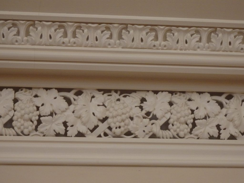 Detail of Cornice in Double Parlor